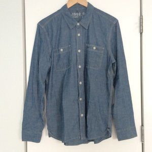 GAP 1969 Womens Ladies Chambray Denim Shirt